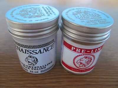 2 X 65ml Tins Of Pre-lim Surface Cleaner & Renaissance Wax Antique Conservation • 18.49£