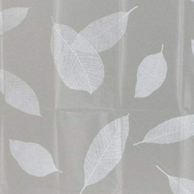 £5.15 • Buy Shower Curtains Curtain Design Leaves Standard Size 180 X 180 Cm W/ Rings Hooks