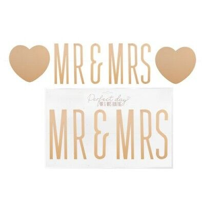 Mr And Mrs Wedding Party Foil Banner. Bunting Decorations Banners For Weddings • 3.24£