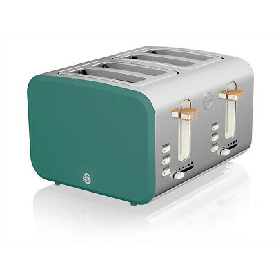 £59 • Buy Swan ST14620GREN 4 Slice Nordic Style Toaster In Green | Brand New
