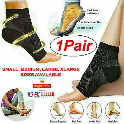 £3.29 • Buy Pair Ankle Support Compression Sock For Plantar Fasciitis Pain Relief Recovery