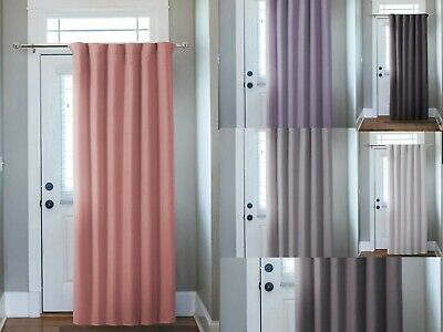 £10.99 • Buy Thermal Door Curtains Panel Energy Saving Curtains Blackout Insulated Curtains