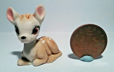 Wade Whimsies Disney Bambi Deer Fawn - 1st Issue Hat Box Series 1956-1965 - Vint • 13.99£