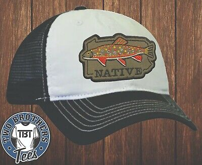 £17.26 • Buy Pennsylvania Native Brook Trout Hat Cap Patch Mesh Snapback Fly Fishing