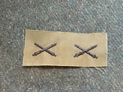 £5.95 • Buy Genuine Issue US Army Subdued Field Artillery Uniform Collar Badges