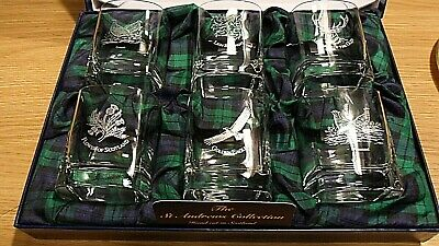 £40 • Buy NEW BOXED SET Gleneagles Crystal Glasses 6 Pieces Whiskey Glasses