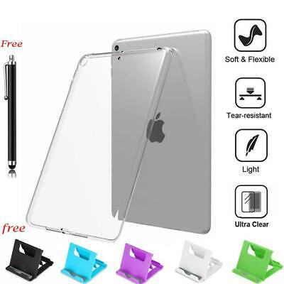 AU11.20 • Buy Silicone Transparent Soft TPU Clear Back Cover Case With Holder For IPad Models