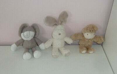 Mamas And Papas M&P Once Upon A Time Set Of 3 Small Soft Toy Pudding Monkey 5  • 16.99£