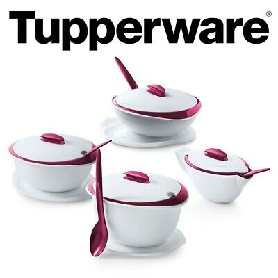 AU204.55 • Buy Sale 💕 TUPPERWARE Insulated Server Thermo Duo Iso Duo - 4pcs Set - New