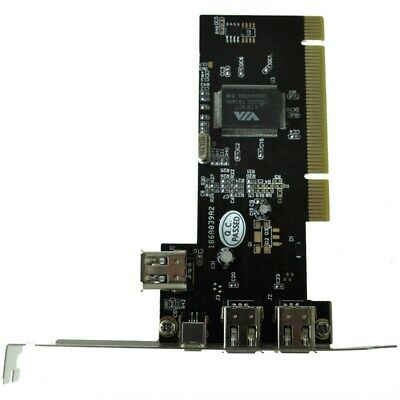 PCI FireWire IEEE 1394 3 + 1 Port Card + 4/6 Pin Cable C1K7 • 6.54£