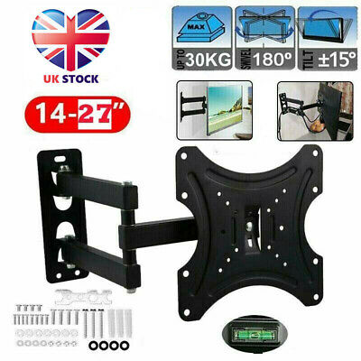 Swivel TV Wall Mount Bracket For 14-27 Inch Small LCD LED Monitor UK STOCK NEW • 7.99£