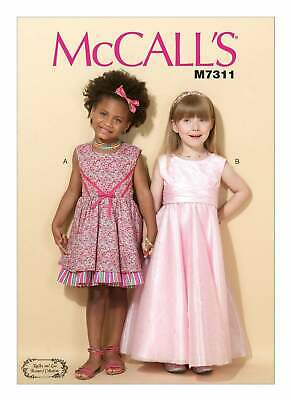 McCalls Sewing Pattern 7311 Girls Dresses Age 2-5 Party Bridesmaid Occasion • 8.95£