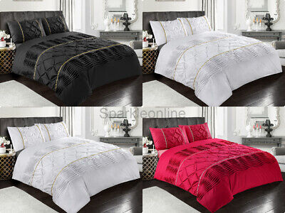 New Design Eleanor Bedding Set LACED Duvet Cover With Pillowcase All Sizes • 19.95£
