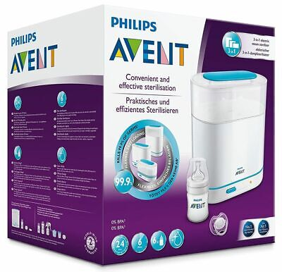 AU106.39 • Buy Philips Avent 3-in-1 Electric Steam Steriliser