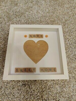 Personalised Home Sweet Home Picture Box Frame Gift Scrabble Letters  • 3.49£