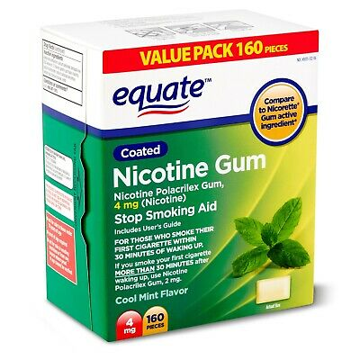 $ CDN99.07 • Buy Equate Cool Mint Flavor Coated Nicotine Gum Value Pack, 4 Mg, 160 Count..