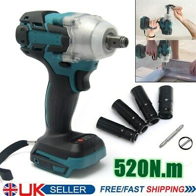 1/2 18V Electric Cordless Drill Brushless Impact Wrench For MAKITA DTW285Z+ Bits • 31.96£