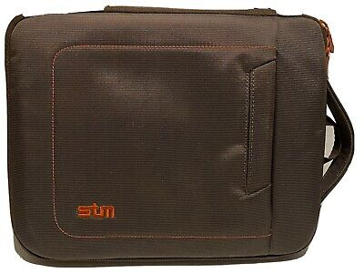STM IPad/Tablet Protective Chocolate & Tangerine Carrying Case Shoulder Bag New • 17.88£