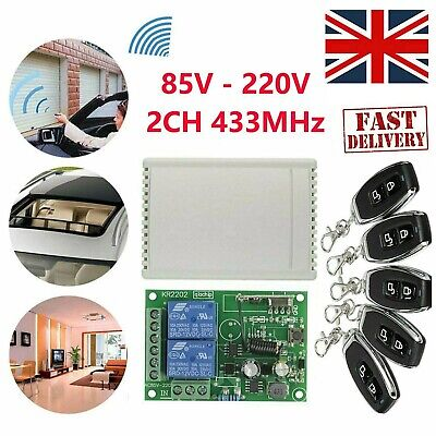 £13.89 • Buy Wireless Transmitter Remote Control Switch+RF Relay Receiver For Light Garage EW