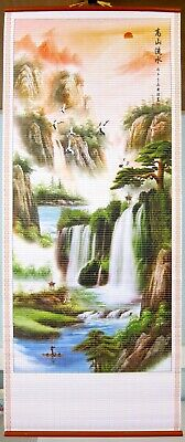 Chinese Mountain Landscape Wall Hanging Scroll • 6.50£