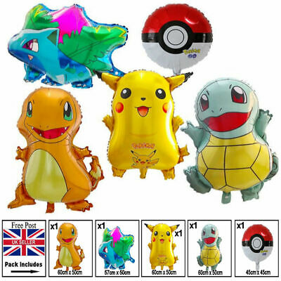 Large Pokemon Foil Balloons - Pikachu - Child - Adult - Birthday - Pack Of 5 • 7.99£