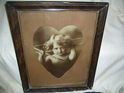 $22.75 • Buy Antique Framed Photo Cupid Awake, Copyright 1897 By A.M.B. Parkinson