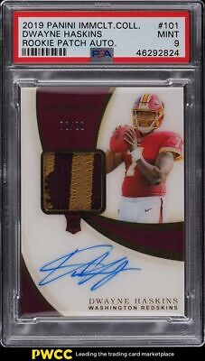 $ CDN151.82 • Buy 2019 Immaculate Collection Dwayne Haskins ROOKIE PATCH AUTO /99 #101 PSA 9 MINT