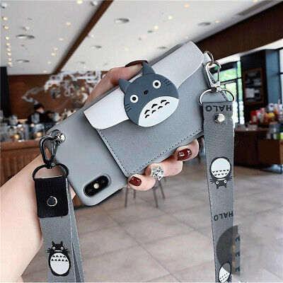 Leather Holder Cartoon Japan Totoro Cute Phone Case Wallet IPhone Samsung • 11.20£