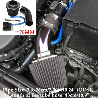 $50.69 • Buy Car SUV Cold Air Intake Filter Induction Pipe Power Flow Hose System Universal