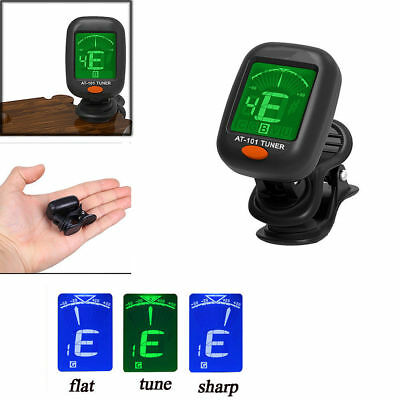 $ CDN4.32 • Buy LCD Clip On Electronic Digital Guitar Tuner For Chromatic Violin Ukulele Bass-US
