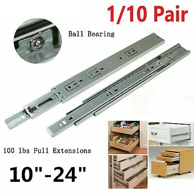 £10.99 • Buy HEAVY DUTY Metal Cabinet Cupboard Drawer Ball Bearing Runners Slides Draw Groove