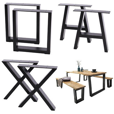 Modern DIY Iron Metal Table Legs Industrial Rustic Heavy Duty Computer Desk Legs • 89.95£