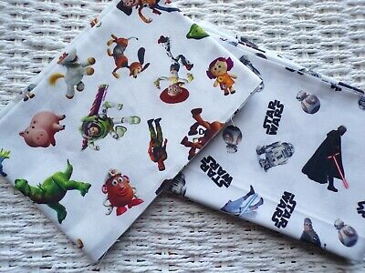 £5.48 • Buy Fat Quarter Bundle Of 2 Toy Story & Star Wars Fabric Fabrics Crafting Material