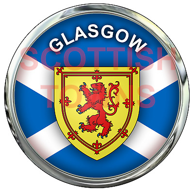 GLASGOW Car Truck Motorcycle Sticker SCOTLAND Scottish Highlands Decal • 2.50£