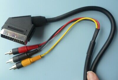£5 • Buy 1.5m Scart Lead To Triple 3 X Phono Cable Composite Audio Video: MICROMARK