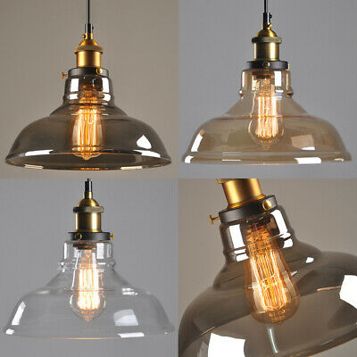 Retro Modern Vintage Glass Ceiling Pendant Industrial Light Shade Chandelier • 23.95£