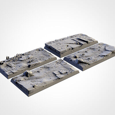 Armies Of The Sand : 50mm Rectangle Base Set  Tomb Proxy 3D Resin Printed • 15£
