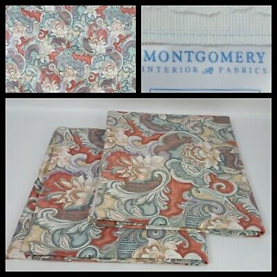 £49.99 • Buy Vintage Montgomery Floral Botanic Pencil Pleat Curtains D 71in X W 76 In