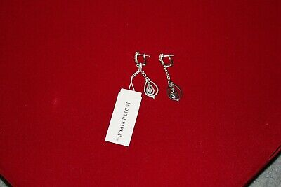 £79.99 • Buy Authentic Judith Ripka Sterling Silver Diamond Drop Earrings - Gift Boxed