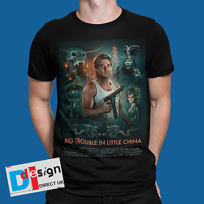 £8.99 • Buy Big Trouble In Little China T-shirt Movie Poster Retro 80s 90s Japan Tee