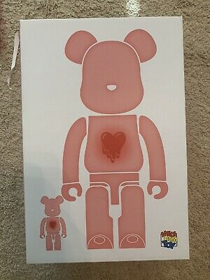 $700 • Buy Authentic EMOTIONALLY UNAVAILABLE BEARBRICK 400% 100% CLEAR RED BE@RBRICK