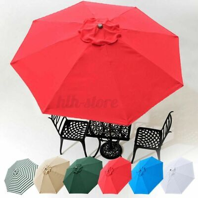 9/10ft Garden Patio Parasol Canopy Umbrella Top Fabric Replacement Cover UK • 27.52£