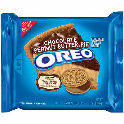 Oreo Chocolate Peanut Butter Pie Sandwich Cookies, 12.2 Oz • 13.45£