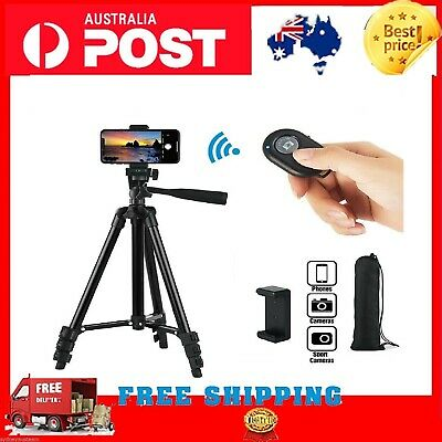 AU20.99 • Buy Professional Camera Tripod Stand Mount Remote + Phone Holder For IPhone Samsung