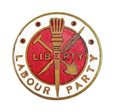 Antique Old The Labour Political Party Members Enamel Badge Brooch • 17.50£