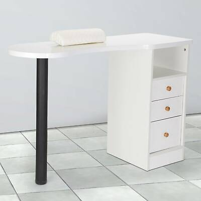 £103.39 • Buy Professional Manicure Table Portable Nail Station Desk  Drawers Spa Salon White