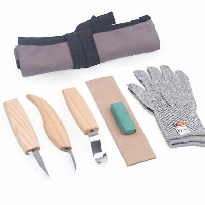 £12.24 • Buy 7x Wood Carving Knife Set Chisel Woodworking Whittling Cutter Chip Hand Tools FN
