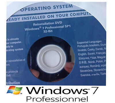 DVD Neuf Original Windows Windows 7 PRO 32 Bit  + Clé D'activation Authentique • 13.84£