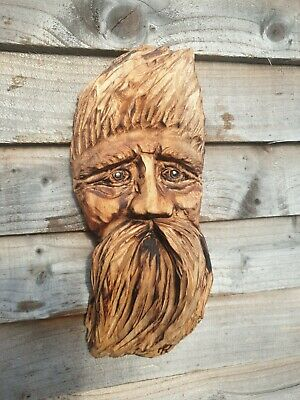 £24.99 • Buy Chainsaw Carved Green Man / Wood Spirit