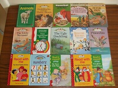 15 Vintage Ladybird Books ( Well-Loved Tales + Learning / Reading / Maths ) • 11.99£